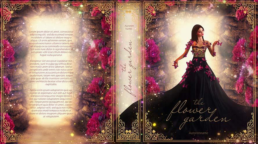 The flower garden Premade Cover