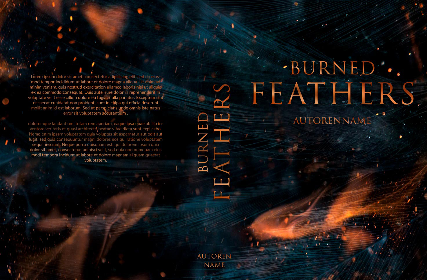 Burning Feathers Premade Cover